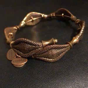 Alex and ani gold vintage 66 snake bracelet!
